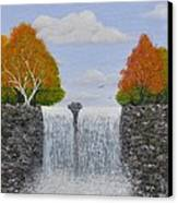 Autumn Waterfall Canvas Print by Georgeta  Blanaru