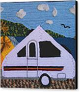 A'van By The Sea Canvas Print by Patricia Tapping
