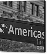 Avenue Of The Americas Canvas Print by Susan Candelario