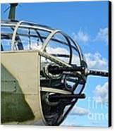 B-25j Nose Canvas Print by Lynda Dawson-Youngclaus