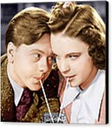 Babes In Arms, From Left Mickey Rooney Canvas Print by Everett