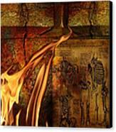 Back Bone #3 Canvas Print by Janet Kearns