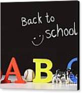 Back To School Concept With Abc Letters Canvas Print by Sandra Cunningham
