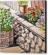 Backyard Sketchbook Project Down My Street Canvas Print by Irina Sztukowski