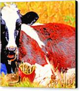 Bad Cow . 7d1279 Canvas Print by Wingsdomain Art and Photography