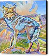 Badland Coyote Canvas Print by Jenn Cunningham