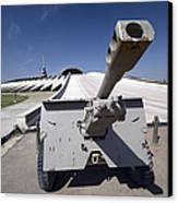 Baghdad, Iraq - An Iraqi Howitzer Sits Canvas Print by Terry Moore