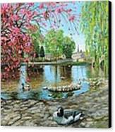 Bakewell Bridge - Derbyshire Canvas Print by Trevor Neal