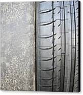 Bald And New Tyre Canvas Print by Cordelia Molloy