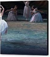 Ballerinas At The Vaganova Academy Canvas Print by Richard Nowitz