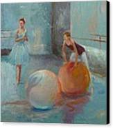 Ballet Class With Balls Canvas Print by Irena  Jablonski