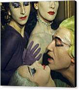Ballet Dancers Appear In A Love Scene Canvas Print by Justin Locke
