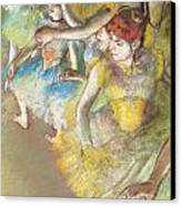 Ballet Dancers On The Stage Canvas Print by Edgar Degas