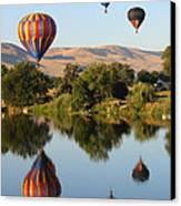 Balloons Over Horse Heaven Canvas Print by Carol Groenen