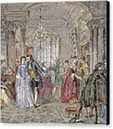 Ballroom, 1760 Canvas Print by Granger