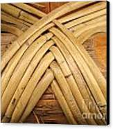 Bamboo And Wood Construction Canvas Print by Yali Shi
