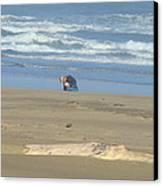 Bandon Oregon Beach Comber Prints Ocean Coastal Canvas Print by Baslee Troutman