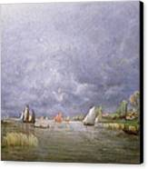 Banks Of The Loire In Spring Canvas Print by Charles Leroux