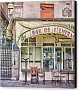 Bar De L'entracte Canvas Print by Stephanie Benjamin