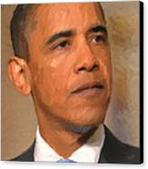 Barack Obama Canvas Print by Nop Briex