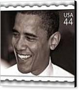 Barack Obama Portrait. Photographer Ellis Christopher Canvas Print by Ellis Christopher