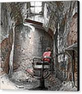 Barber - Chair - Eastern State Penitentiary Canvas Print by Paul Ward