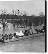 Barge Loaded With Poor African American Canvas Print by Everett
