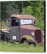 Barn Fresh Pickup Canvas Print by Steve McKinzie
