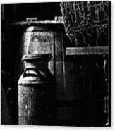 Barrel In The Barn Canvas Print by Jim Finch