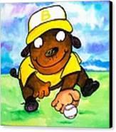 Baseball Dog 3 Canvas Print by Scott Nelson