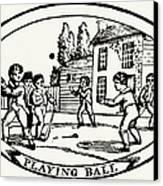 Baseball Game, 1820 Canvas Print by Granger