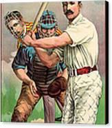 Baseball Player, C1895 Canvas Print by Granger