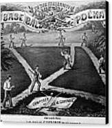 Baseball Polka, 1867 Canvas Print by Granger