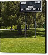 Baseball Scoreboard Canvas Print by Thom Gourley/Flatbread Images, LLC