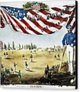 Baseball Song Sheet, 1860 Canvas Print by Granger