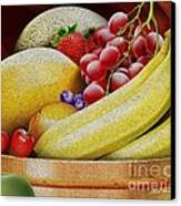 Basket Of Fruit Canvas Print by Cheryl Young