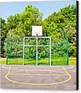 Basketball Court Canvas Print by Tom Gowanlock