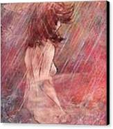 Bathing In The Rain Canvas Print by Rachel Christine Nowicki