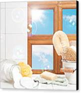 Bathroom Interior Still Life Canvas Print by Amanda Elwell