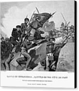 Battle Of Churubusco, 1847 Canvas Print by Granger