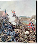 Battle Of Franklin November 30th 1864 Canvas Print by American School
