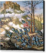 Battle Of Lookout Mount Canvas Print by Granger