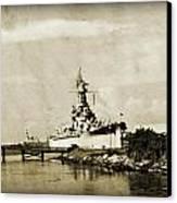 Battle Ship Canvas Print by Malania Hammer