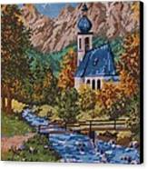 Bavarian Country Canvas Print by M and L Creations Craft Boutique