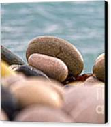 Beach And Stones Canvas Print by Stelios Kleanthous