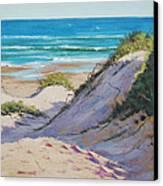 Beach Dunes Canvas Print by Graham Gercken