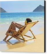 Beach Lounger II Canvas Print by Tomas del Amo