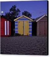 Beach Sheds Canvas Print by Nishan De Silva