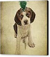 Beagle Puppy Flapper  Canvas Print by Susan  Schmitz