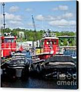 Belfast Tugboats Canvas Print by Susan Cole Kelly